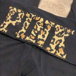 PINK Victoria secret yoga pants leopard cheetah